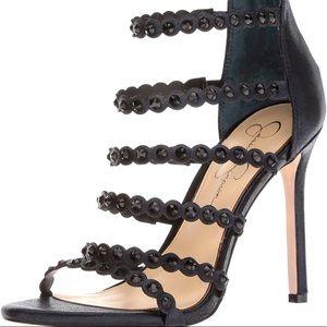 Jessica Simpson Strappy Studded Heels 8.5